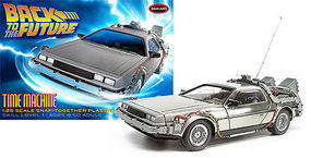 Polar-Lights Back to the Future Time Machine Plastic Model Car 1/25 Scale #pol911