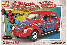 Polar-Lights Spiderman VW Beetle Snap Plastic Model Car Kit 1/25 Scale #pol927