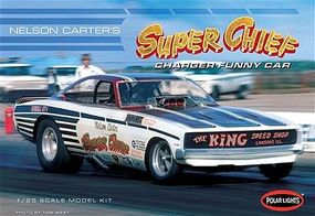 Polar-Lights 1970 Nelson Carters Super Chief Charger Funny Car Plastic Model Car Kit 1/25 Scale #pol935