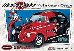 Polar-Lights Harley Quinn VW Beetle DC Comics Snap Plastic Model Car Kit 1/24 Scale #pol944