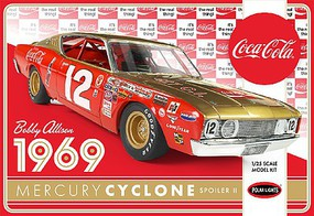 Polar-Lights Bobby Allisons 1969 Coca Cola Mercury Cyclone Plastic Model Car Kit 1/25 Scale #pol948