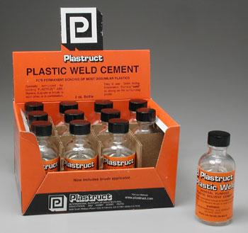 Plastruct Plastiweld (1) -- Plastic Model Cement -- #00002