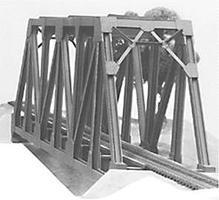 Plastruct Truss Bridge Kit HO Scale Model Railroad Bridge #1002