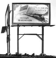 Plastruct Billboards (4) HO Scale Model Railroad Billboard Sign #1013