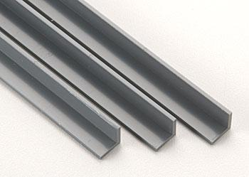 Plastruct Angle ABS 3/8 (3) -- Model Scratch Building Plastic Sheet Rod Tube Strip -- #90008