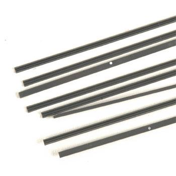 Plastruct ABS Channels 3/32 x 10'' (8) -- Model Railroad Scratch Supply -- #90042