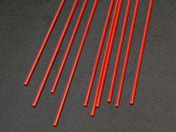 Plastruct Rod Round Fluorescent Red 1/16 (10 -- Model Scratch Building Plastic Rods -- #90271