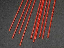 Plastruct Rod Round Fluorescent Red 1/16 (10 Model Scratch Building Plastic Rods #90271
