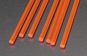 Plastruct Rod Round Fluorescent Red 1/8 (7) Model Scratch Building Plastic Rods #90273