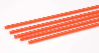 Plastruct Rod Round Fluorescent Red 5/32 (5) -- Model Scratch Building Plastic Rods -- #90274