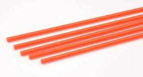 Plastruct Rod Round Fluorescent Red 5/32 (5) Model Scratch Building Plastic Rods #90274