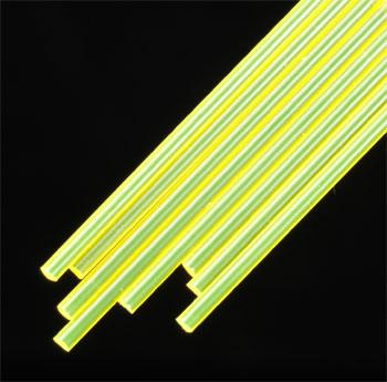 Plastruct Fluorescent Rod 3/32 (8) Model Scratch Building Plastic Rods #90282