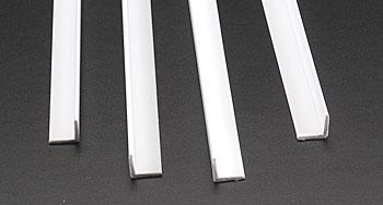 Plastruct Styrene Structural Shapes-Angles -- 3/8 x 24'' Long (4)