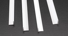 Plastruct Styrene Structural Shapes-Angles 3/8 x 24 Long (4)