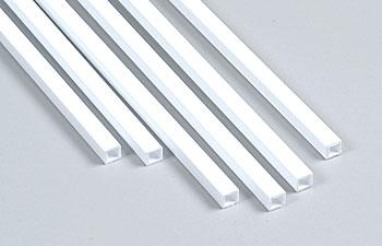 Plastruct Styrene Tubing-Square -- 3/16 x 15'' Long (6)
