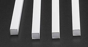 Plastruct Square Tube Styrene 3/8 (4)