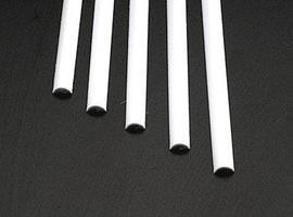 Plastruct 1/2 Round Rod 1/4x10 (5)