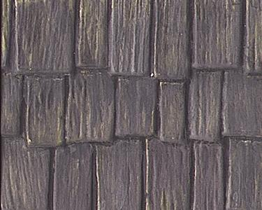 Plastruct Wood Shake Shingles Roofing Patterned Sheets -- Model Railroad Scratch Supply -- #91658