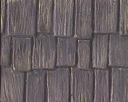 Plastruct Wood Shake Shingles Roofing Patterned Sheets Model Railroad Scratch Supply #91658