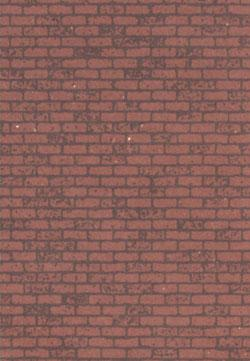 Plastruct PSP-92 PAPER SHEET RED BRICK