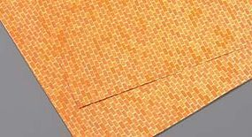 Plastruct Brick Patterned Plastic Sheet (Red) Model Railroad Scratch Supply #91883