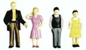 Plastruct Plastic Family Figures (4) G Scale Model Railroad Figure #93355