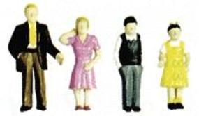 Plastruct Plastic Family Figures Painted (6) O Scale Model Railroad Figure #93356