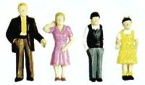 Plastruct Plastic Family Figures (9) HO Scale Model Railroad Figure #93357