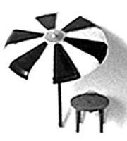 Plastruct Umbrellas & Tables Plastic Kit (3 pack) HO Scale Model Railroad Accessory #94752