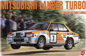 Platz-Model 1/24 Mitsubishi Lancer Turbo 1982 Rally of 1000 Lakes Race Car