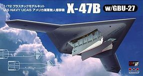 Platz-Model 1/72 USN UCAS X47B Unmanned Combat Air System Aircraft w/GBU27 Guided Bomb