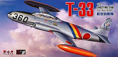 Platz-Model T33 Shooting Star JASDF Aircraft Plastic Model Airplane Kit 1/72 Scale #ac6