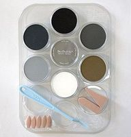 Panpastel Weathering Color- Grey, Grime, Soot (7 9ml pan colors, tray, tools) Watercolor Paint #30702