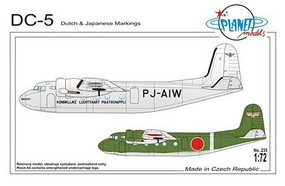 Planet 1/72 Douglas DC5 Aircraft w/Dutch & Japanese Markings