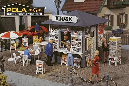 Pola Susi's Newspaper Stand -- G Scale Model Railroad Building -- #330995