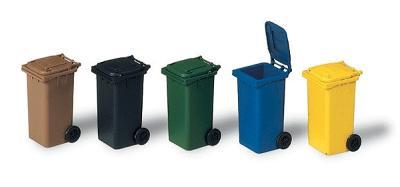 Dimension poubelle de ville
