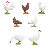 Pola 5 Chickens & 2 Geese G Scale Model Railroad Figure #331896