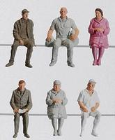 Pola Sitting Passengers IV Model Railroad Figures G Scale #331951
