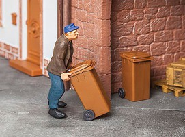 Pola Garbage Cans - Carts Brown pkg(2) - G-Scale
