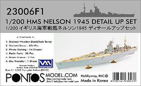 Pontos HMS Nelson Detail Set for TSM Plastic Model Ship Accessory 1/200 Scale #230061
