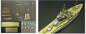 Pontos HMS Warspite 1943 Detail Set Plastic Model Ship Accessory 1/350 Scale #350011