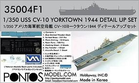 Pontos USS Yorktown CV10 1944 Detail Set Plastic Model Ship Accessory 1/350 Scale #350041