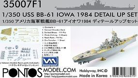 Pontos USS Iowa BB61 1984 Detail Set Plastic Model Ship Accessory 1/350 Scale #350071