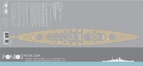 Pontos DKM Scharnhorst Type 1 Wood Deck Plastic Model Ship Accessory 1/350 Scale #35012