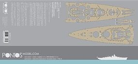Pontos DKM Bismarck Type R Wood Deck Plastic Model Ship Accessory 1/350 Scale #35013