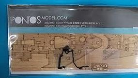 Pontos HMS Hood Type 1 Wood Deck w/Photo-Etch Plastic Model Ship Accessory 1/350 #35020