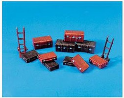 ppc HO Trucks/Suitcases & Trolley Sack Truck (12)