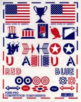 Pine-Pro Patriotic Decal Set -- Pinewood Derby Decal and Finishing -- #10018
