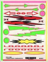 Pine-Pro Flames & Arrows Decal Pinewood Derby Decal and Finishing #10021