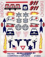 Pine-Pro Emergency Vehicle Decal Pinewood Derby Decal and Finishing #10023